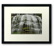 Montour Falls in New York close up Framed Print