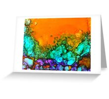 Underwater Sunset Greeting Card