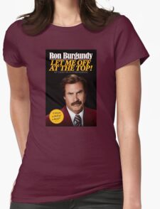 Anchorman - Ron Burgundy Womens Fitted T-Shirt