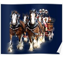 CUB Clydesdale Team, with Dalmation - Warragul, Victoria Poster