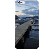 Seneca Lake Marina at Sundown in New York iPhone Case/Skin