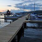 Seneca Lake Marina at Sundown in New York by 1busymom
