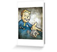 Fallout Casino Pipboy Greeting Card