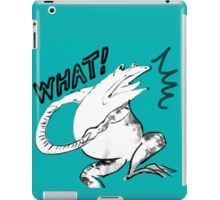 Green Frog -What? iPad Case/Skin