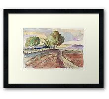 Winter in Tarlton Framed Print