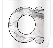 Letter Series - a (marble)  Poster