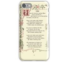 The Old Garden and Other Verses by Margaret Deland and Wade Campbell, Illustrated by Walter Crane 1894 88 - June iPhone Case/Skin