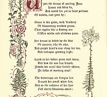 The Old Garden and Other Verses by Margaret Deland and Wade Campbell, Illustrated by Walter Crane 1894 88 - June by wetdryvac