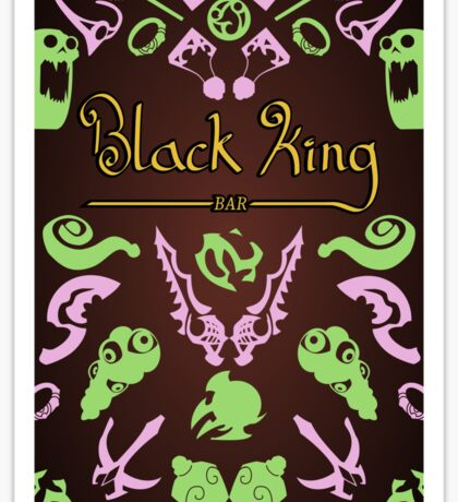 Black King Bar - 99% Cacao with Traces of Radiant  Sticker