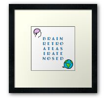Brain Retro Atlas Irate Nosed Framed Print