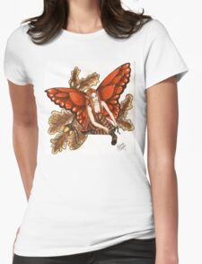 Autumn Ballerina Dancer Faerie Womens Fitted T-Shirt