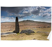 Kings Tor Standing Stone Poster