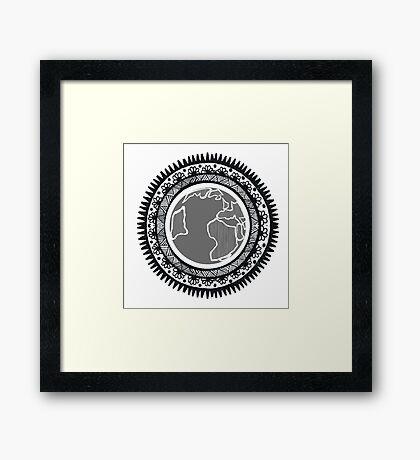 Globe Mandala Framed Print