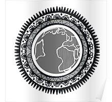 Globe Mandala Poster