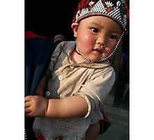Little Girl of the Red Scarf People, Sapa Photographic Print