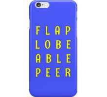 Flabe Lobe Able Peer – Yellow iPhone Case/Skin