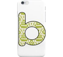 Letter Series - b (lime/cream) iPhone Case/Skin