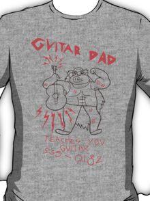 High Quality Vector Guitar Dad, Teaches You Guitar  T-Shirt
