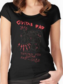 High Quality Vector Guitar Dad, Teaches You Guitar  Women's Fitted Scoop T-Shirt