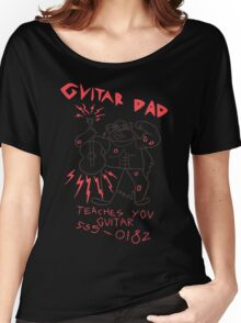 High Quality Vector Guitar Dad, Teaches You Guitar  Women's Relaxed Fit T-Shirt