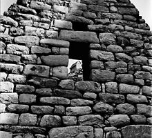 Hut in Window at Machu Picchu by Amy E. McCormick