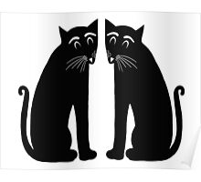"""Two Black Cats"" Poster"