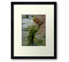 Rocky Abstract Framed Print