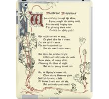 The Old Garden and Other Verses by Margaret Deland and Wade Campbell, Illustrated by Walter Crane 1894 112 - Bloodcoor Blossoms iPad Case/Skin