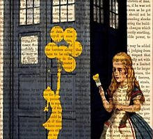 Banksy by Alice on Dr Who Tardis Phone Box by padasshop