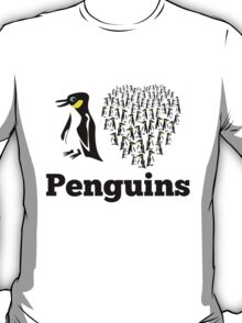 I Love Penguins Heart T-Shirt