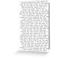 one direction fools gold lyrics  Greeting Card