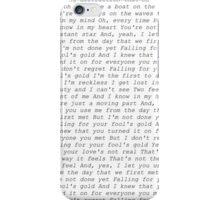 one direction fools gold lyrics  iPhone Case/Skin