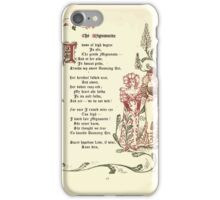 The Old Garden and Other Verses by Margaret Deland and Wade Campbell, Illustrated by Walter Crane 1894 69 - The Mignonette iPhone Case/Skin