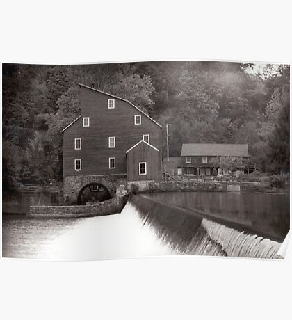 Old Mill in Clinton Poster