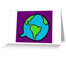 Worldly Words Greeting Card