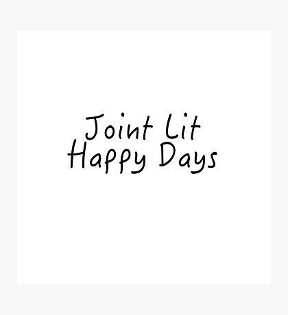 louis tomlinson joint lit happy days Photographic Print