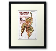 Affirmation to clear ANGER and GUILT Framed Print