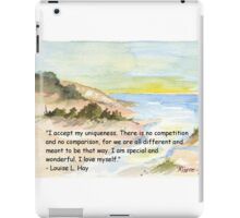 Affirmation to LOVE YOURSELF iPad Case/Skin