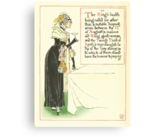 A Masque of Days - From the Last Essays of Elia 1901 illustrated by Walter Crane 30 - The King's Health Canvas Print