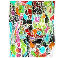Funky Flowers Poster