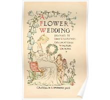 A flower wedding - Described by Two Wallflowers by Walter Crane 1905 7 - Cover Page Poster