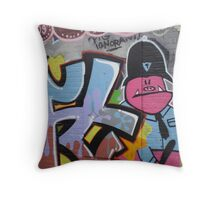 Old School Graffiti, Hackney Wick, London Throw Pillow