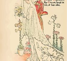 A flower wedding - Described by Two Wallflowers by Walter Crane 1905 14 - A Lilly White Robe the Bride - Sweet William the Groom by wetdryvac