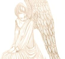 Weeping Stone Angel of Sorrow by autumndomoslai