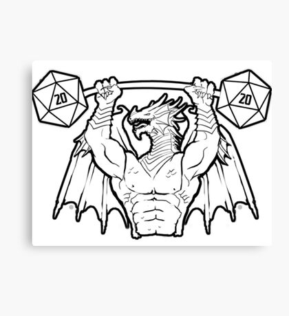Ancient Swole Dragon Canvas Print