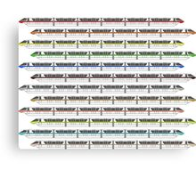 Monorail Fleet Canvas Print