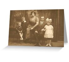 First Family Portrait Greeting Card