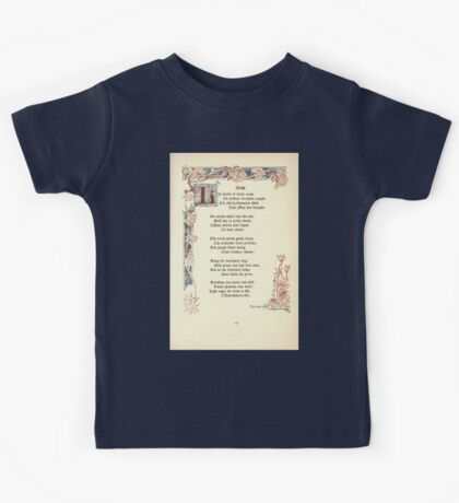 The Old Garden and Other Verses by Margaret Deland and Wade Campbell, Illustrated by Walter Crane 1894 81 - May Kids Tee