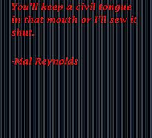 Malcolm Reynolds Quote by MattJ96