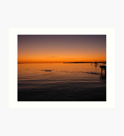 Sunset over the Gulf of Mexico Art Print